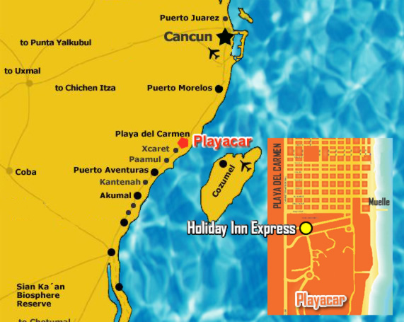 Hotel Holiday inn Express Playacar, all-inclusive accommodations in ...