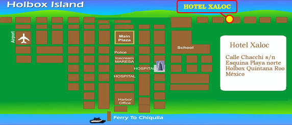 LOCATION HOTEL XALOC HOLBOX,